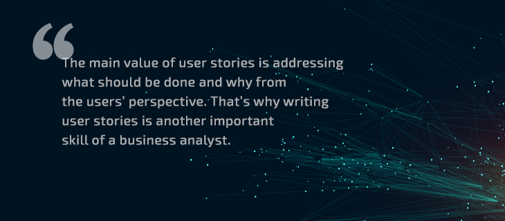 The main value of user stories